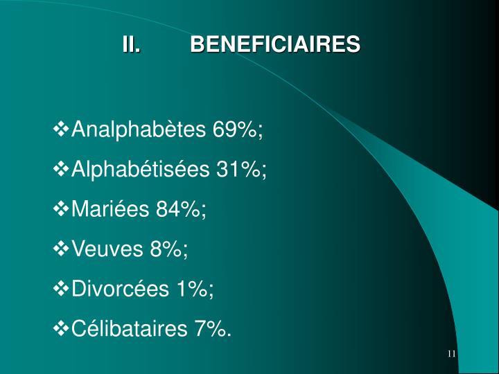 II. BENEFICIAIRES