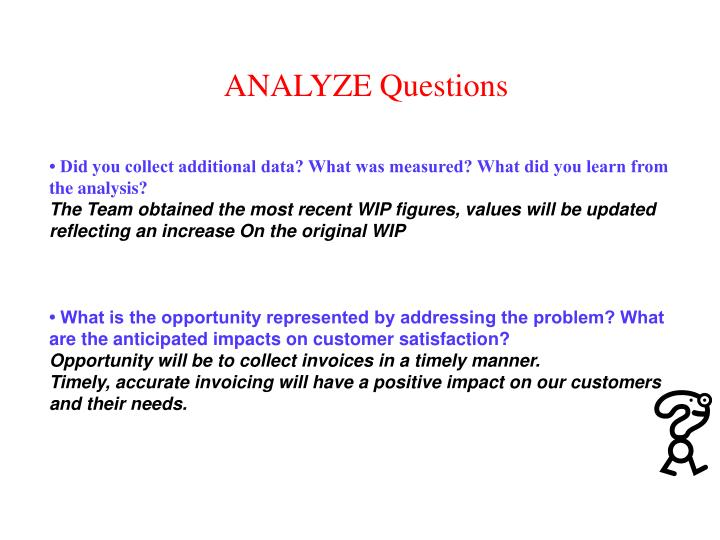 ANALYZE Questions