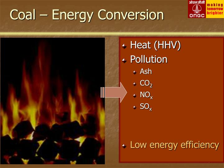 Coal – Energy Conversion