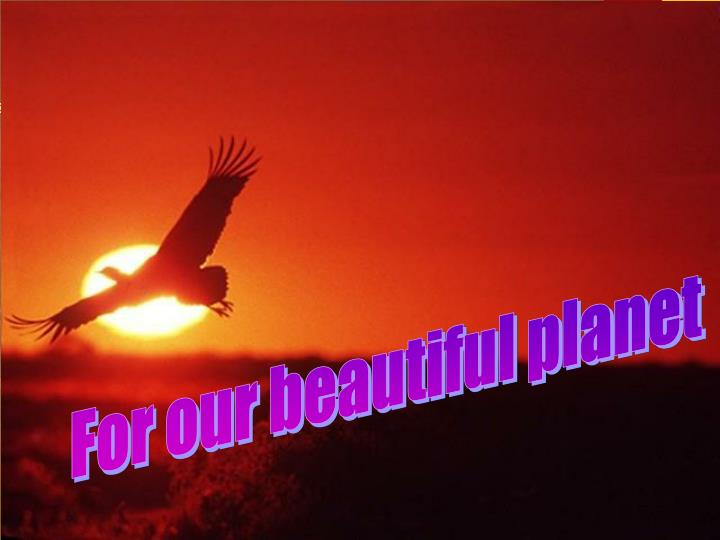 For our beautiful planet