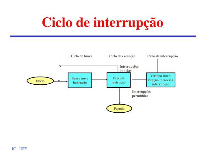 Ciclo de interrupção