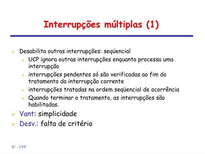 Interrupções múltiplas (1)