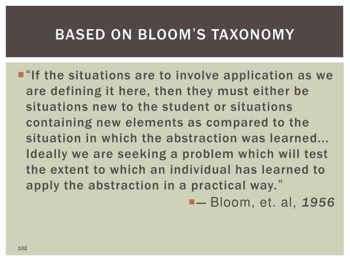 Based on Bloom