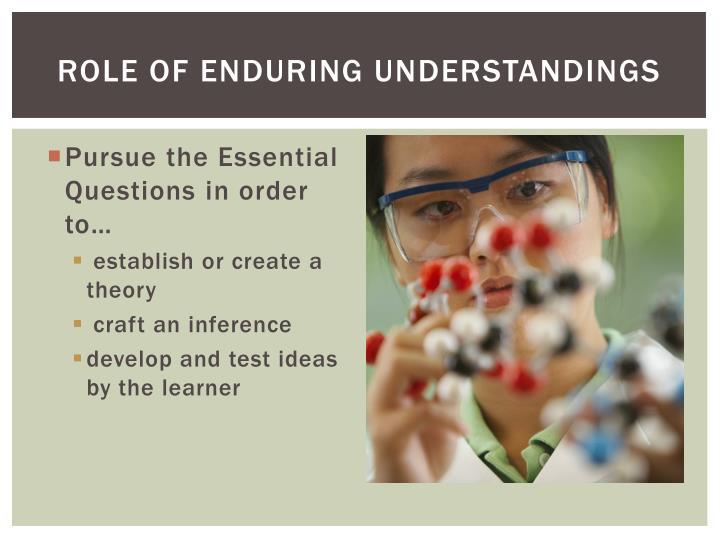 Role of Enduring Understandings