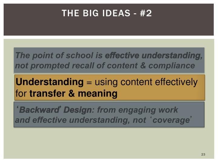 The big ideas - #2