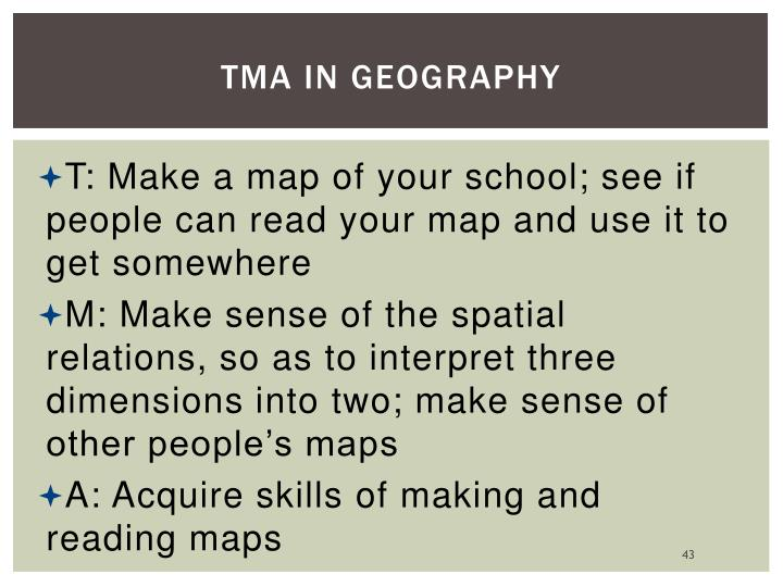 TMA in Geography