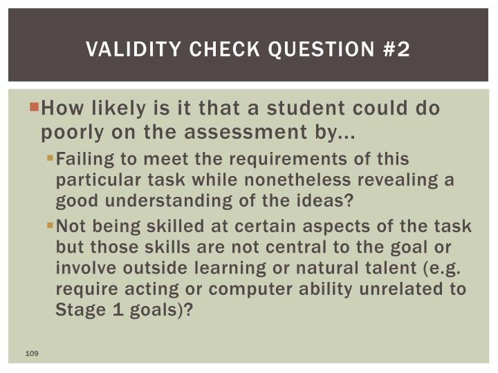 Validity Check Question #2