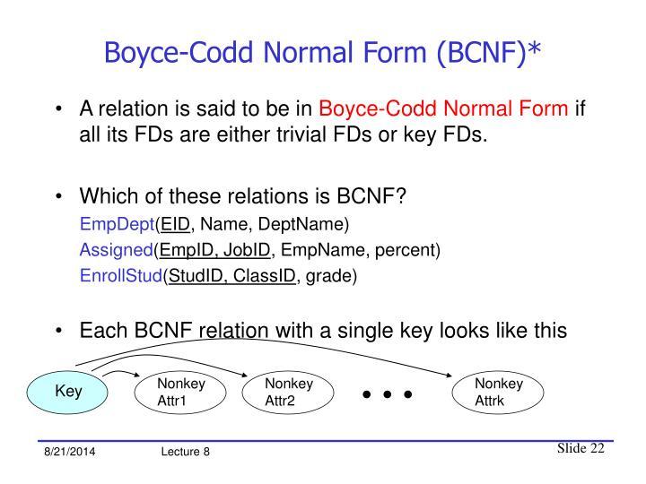 Boyce-Codd Normal Form (BCNF)*