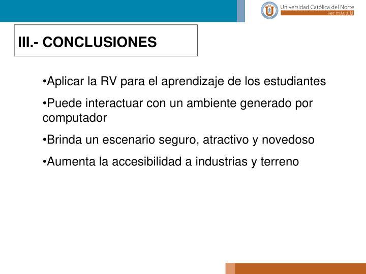 III.- CONCLUSIONES