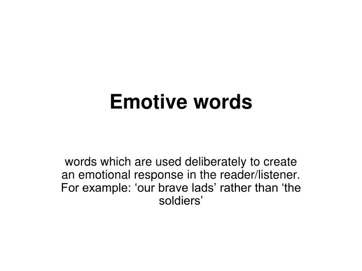 Emotive words