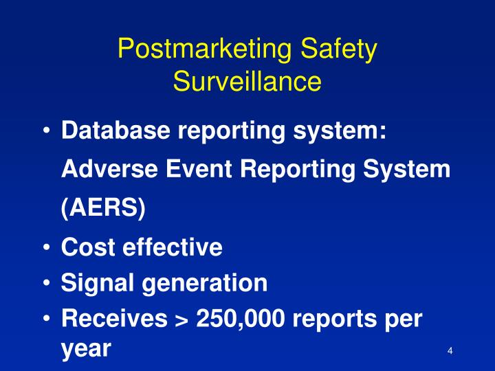 Postmarketing Safety Surveillance