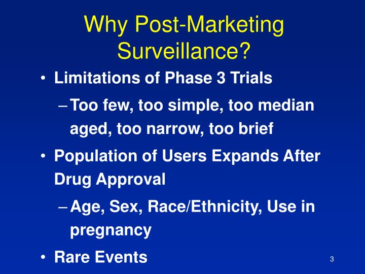 Why post marketing surveillance