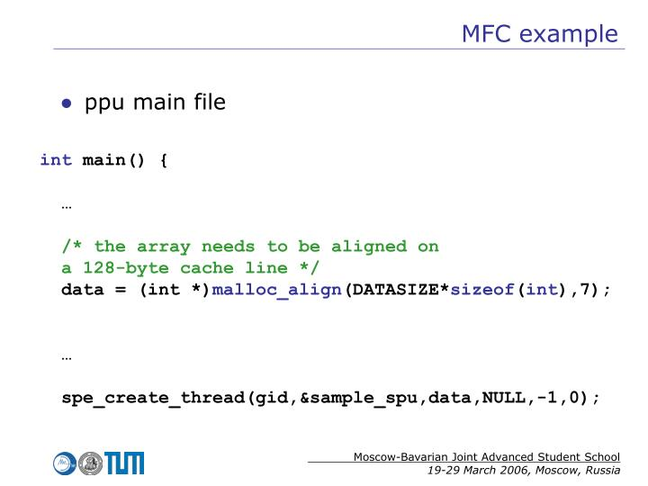MFC example