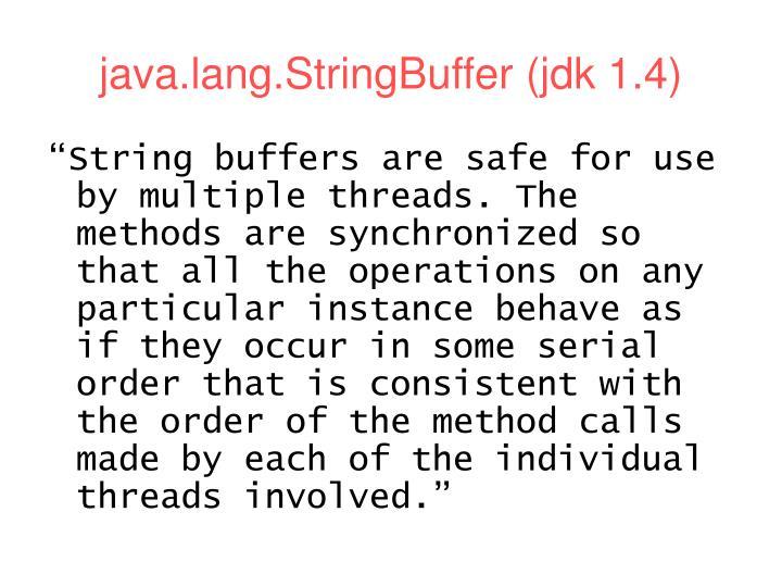 java.lang.StringBuffer (jdk 1.4)