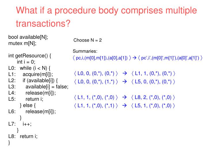 What if a procedure body comprises multiple
