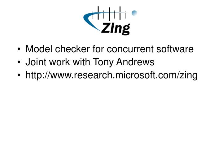 Model checker for concurrent software