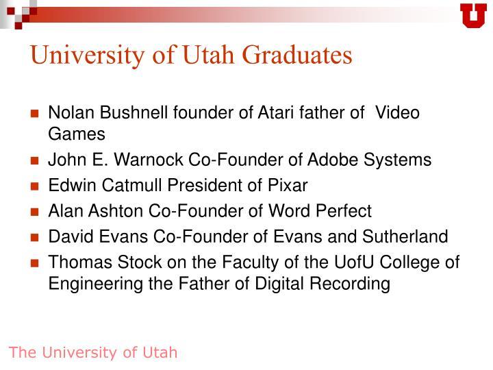 University of Utah Graduates