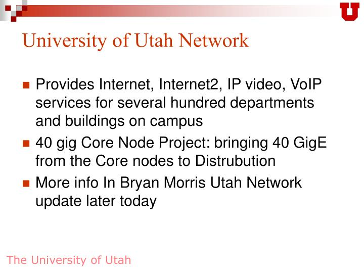 University of Utah Network