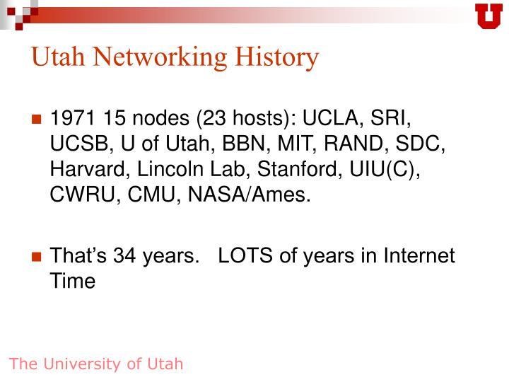 Utah Networking History