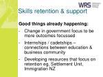 skills retention support