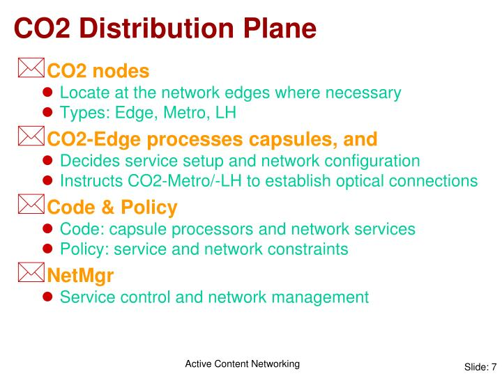 CO2 Distribution Plane