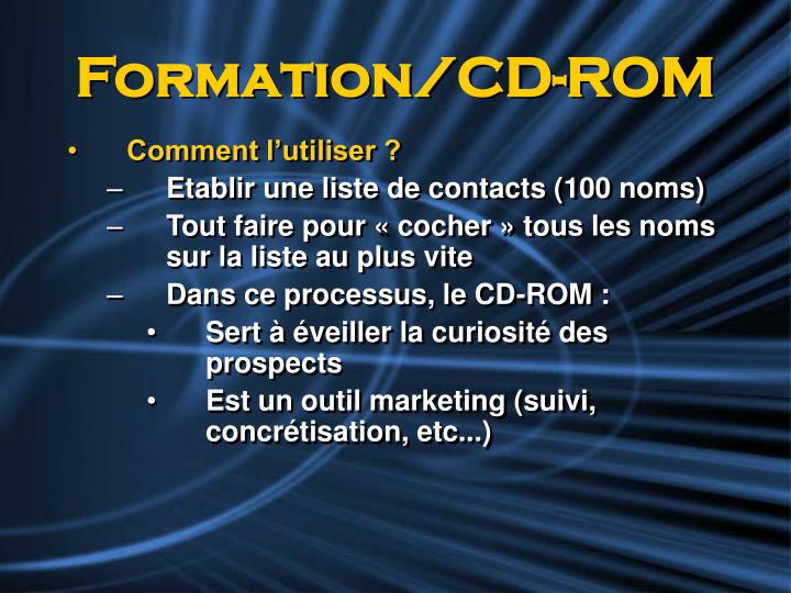 Formation/CD-ROM