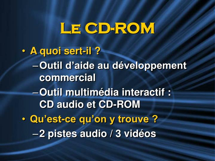 Le CD-ROM