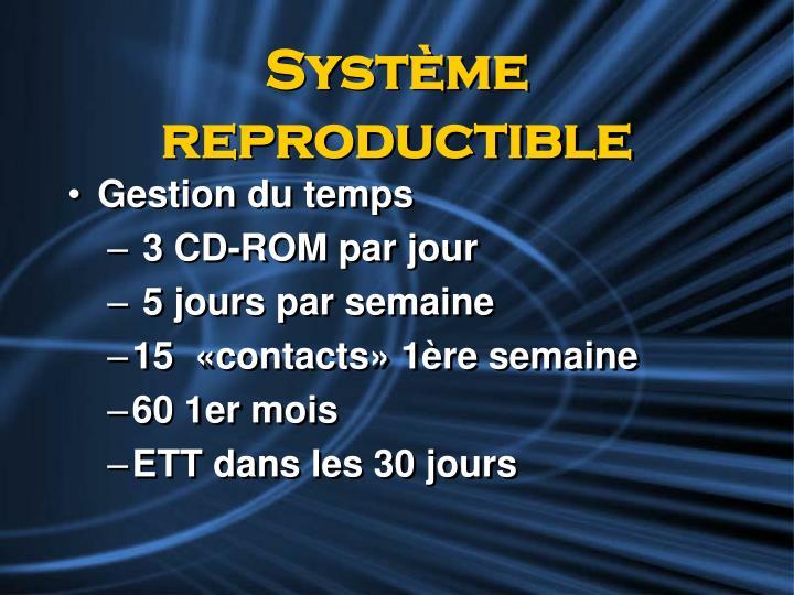 Système reproductible