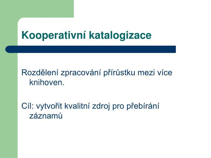 Kooperativní katalogizace