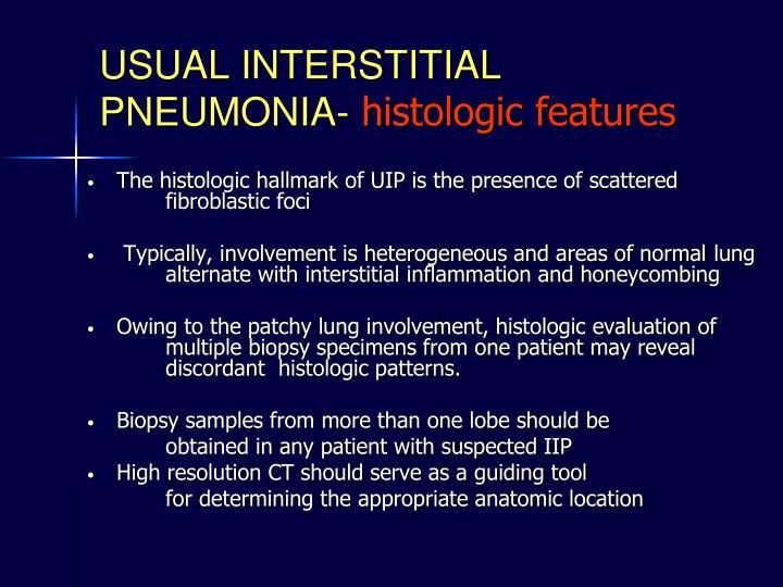 USUAL INTERSTITIAL PNEUMONIA-