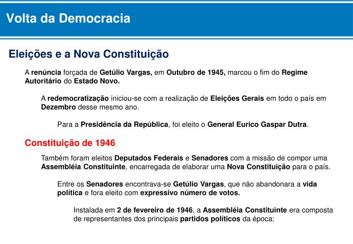 Volta da Democracia
