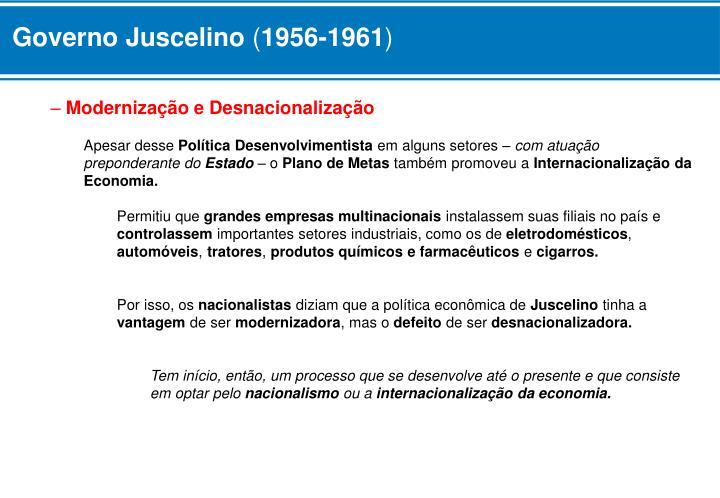 Governo Juscelino