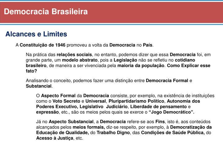Democracia Brasileira