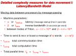 detailed complexity measures for data movement i latency bandwith model