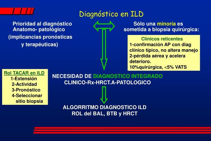 Diagnóstico en ILD