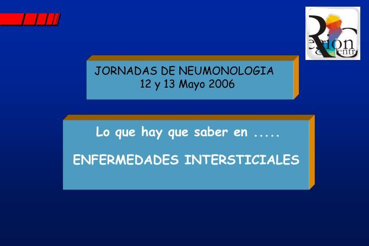 JORNADAS DE NEUMONOLOGIA