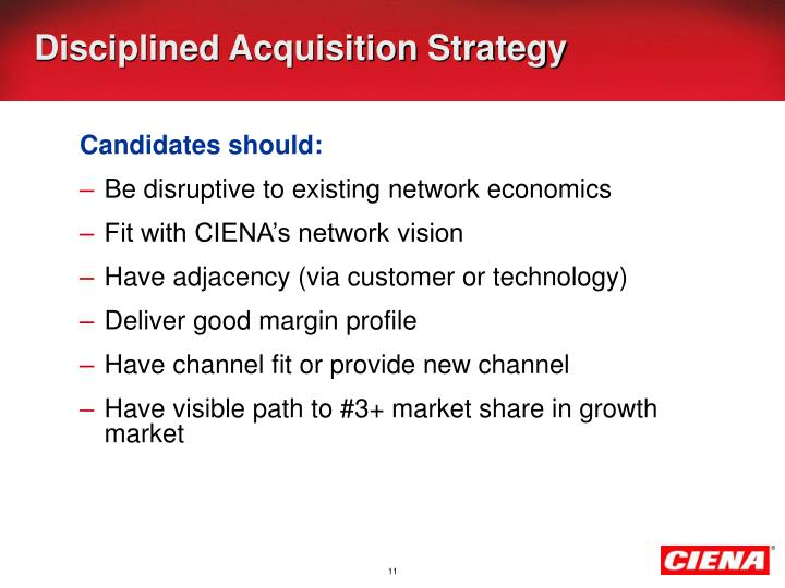 Disciplined Acquisition Strategy