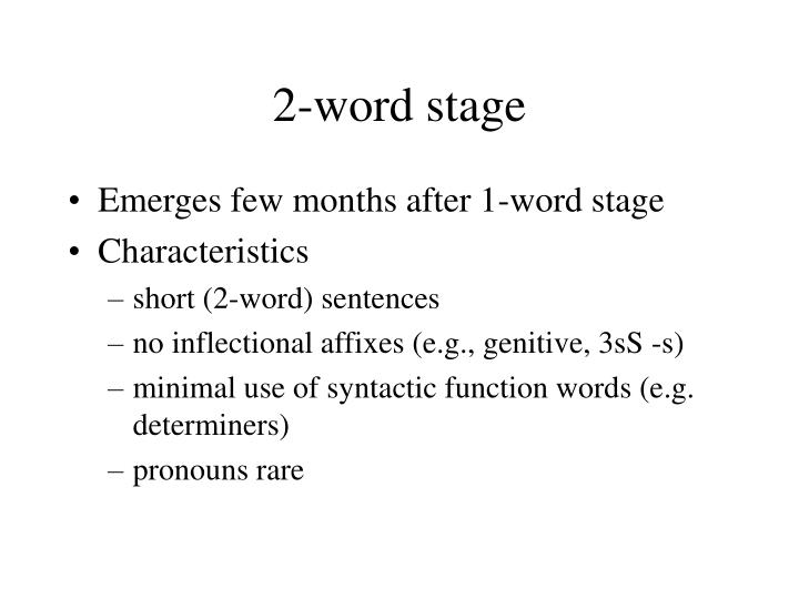 2-word stage