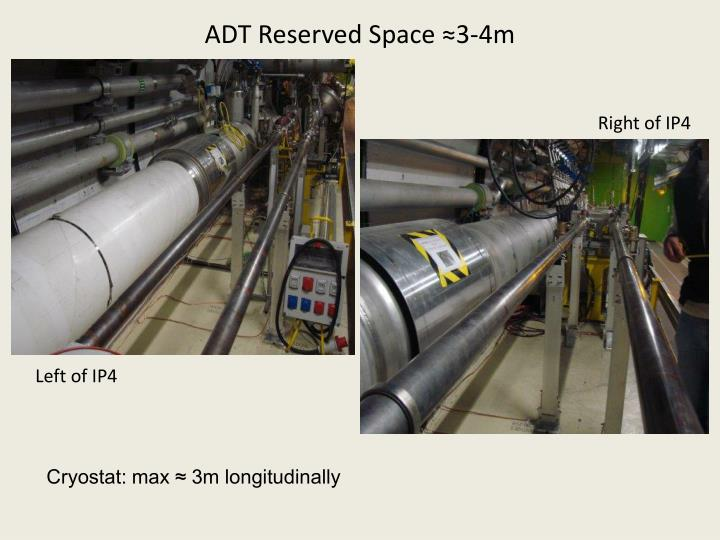 ADT Reserved Space ≈3-4m