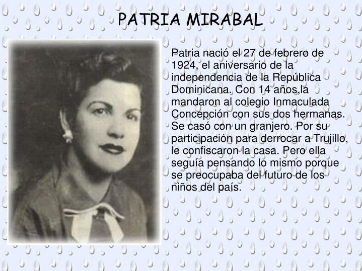 PATRIA MIRABAL