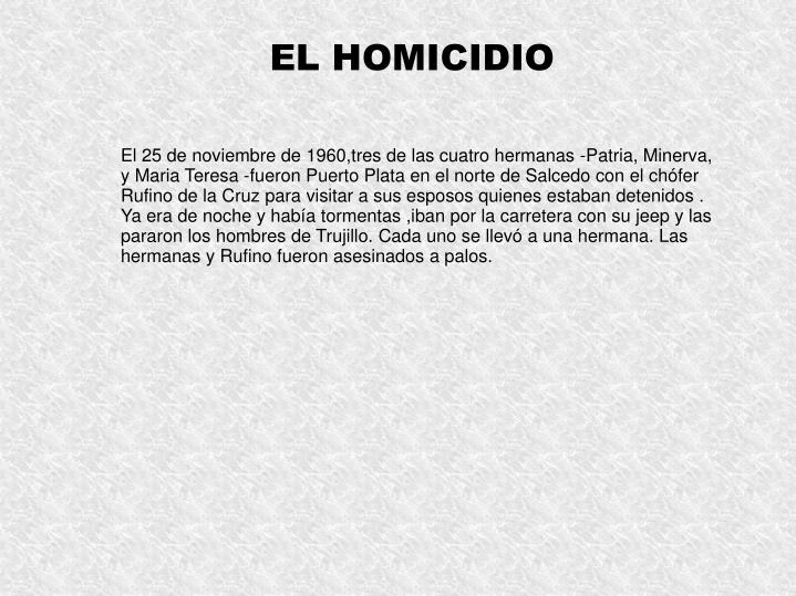 EL HOMICIDIO