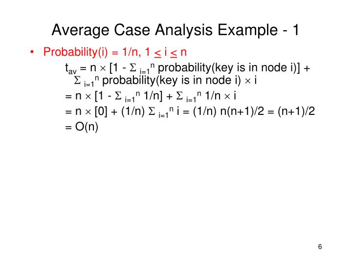 Average Case Analysis Example - 1