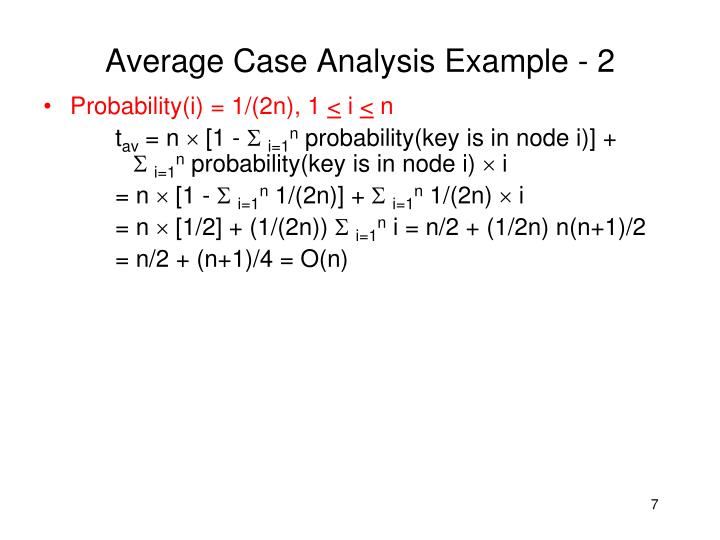 Average Case Analysis Example - 2