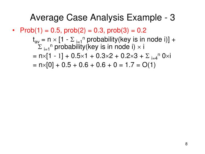 Average Case Analysis Example - 3