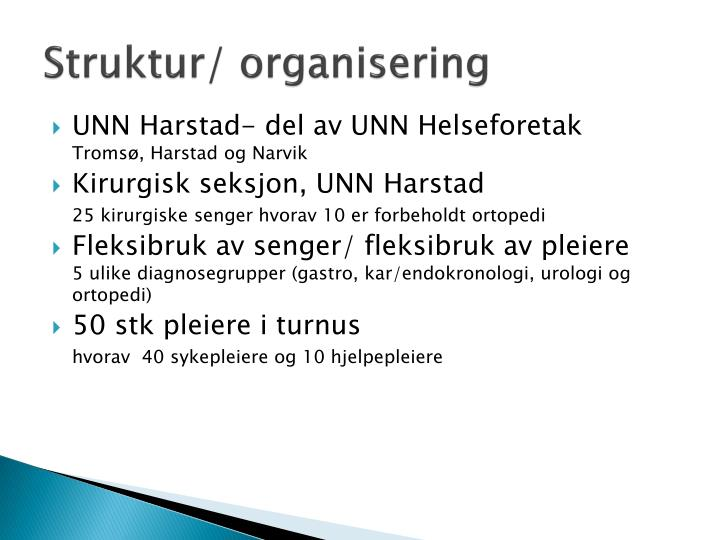 Struktur/ organisering