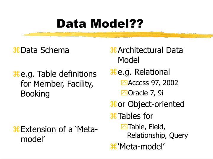 Data Schema