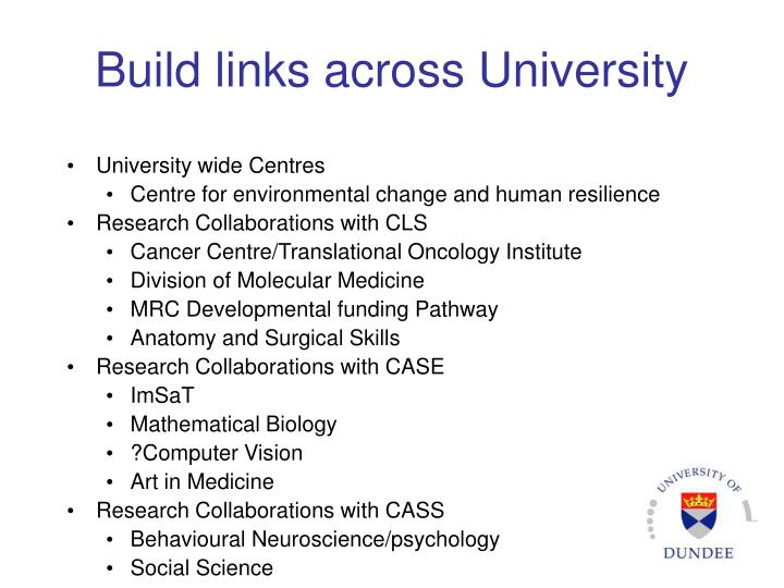 Build links across University