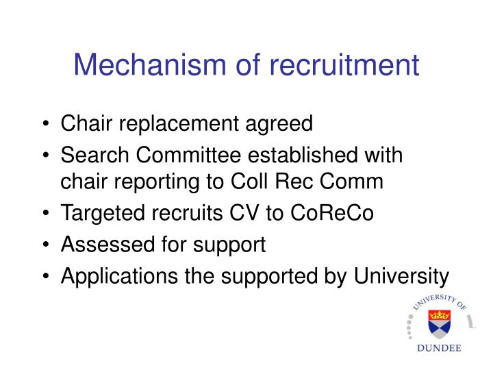 Mechanism of recruitment
