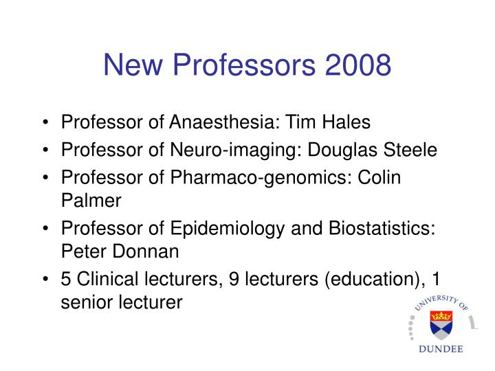 New Professors 2008