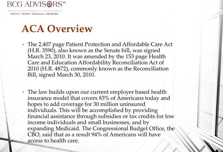 ACA Overview